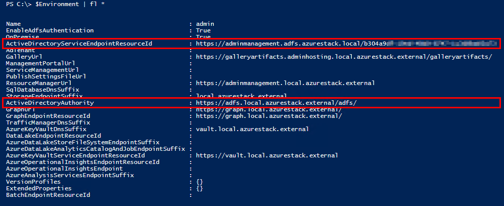 Execute REST API calls on disconnected Azure Stack
