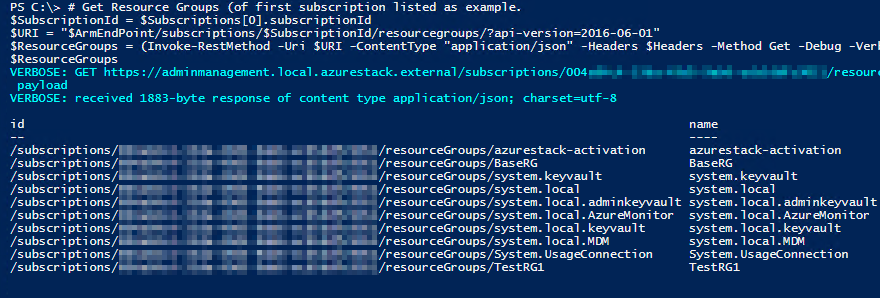 Execute REST API calls on disconnected Azure Stack – Robert's